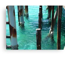 Water under the jetty Canvas Print