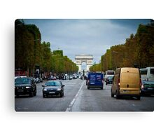 Traffic in Paris, France Canvas Print
