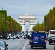Traffic in Paris, France Sticker