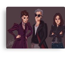 The Doctor Missy and Clara Canvas Print