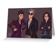 The Doctor Missy and Clara Greeting Card