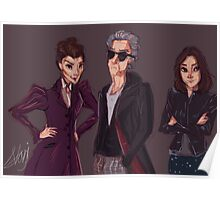 The Doctor Missy and Clara Poster