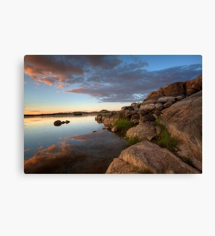Edging Out Sunset Canvas Print