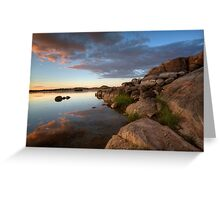 Edging Out Sunset Greeting Card