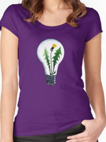 Dandelion idea Women's Fitted Scoop T-Shirt
