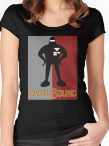 Earthbound Starman obey Women's Fitted Scoop T-Shirt