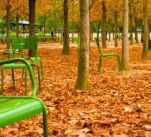 Green Chairs Sticker