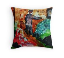 Their favorite place to read outdoors, watercolor Throw Pillow