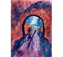Rainy day , watercolor Photographic Print