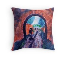 Rainy day , watercolor Throw Pillow
