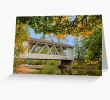 Larwood Bridge, Scio Oregon Greeting Card
