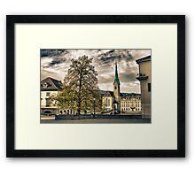 Zurich Old Town Framed Print