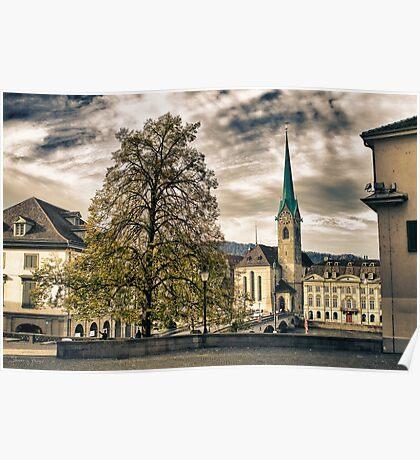 Zurich Old Town Poster