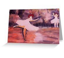 Ballerinias, watercolor Greeting Card