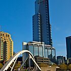 Eureka Tower, Yarra River Footbridge, Melbourne. by johnrf