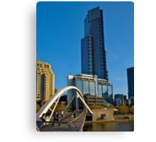 Eureka Tower, Yarra River Footbridge, Melbourne. Canvas Print