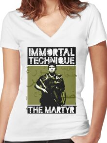 The Martyr Women's Fitted V-Neck T-Shirt