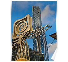 Plaza Sculpture and the Eureka  Tower, Melbourne. Poster