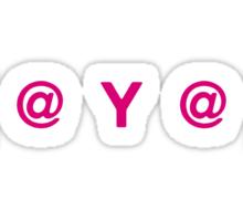 (  @  Y  @  ) : Ladies Sticker