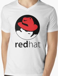 The Red Hat OS Mens V-Neck T-Shirt