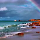 Rainbow at the Beach by Jill Fisher