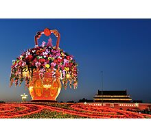 Tiananmen Flowers Photographic Print