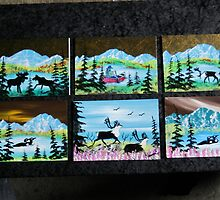 6 ..... 5x7  Original Oil paintings....   by akoils