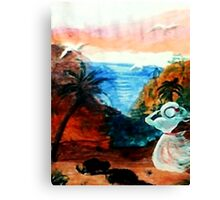 Watching for lover to return, watercolor Canvas Print