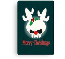 Reindeer of Doom Christmas Greetings Canvas Print