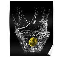 Lemon submerged in water Poster
