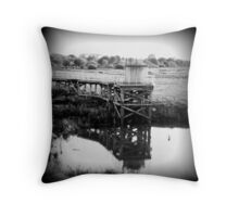 Chasewater Pier Throw Pillow