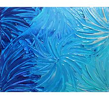 WATER FLOWERS 2 - Stunning Ocean Beach BC Waves Floral Abstract Acrylic Painting Turquoise Blue Photographic Print