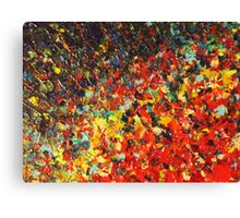 END OF THE RAINBOW - Bold Multicolor Abstract BC Colorful Nature Inspired Sunrise Sunset Ocean Beach Theme Canvas Print