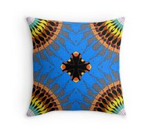 Abstract Blue Mandala Pattern Throw Pillow