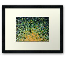 IRISH SUNRISE - Beautiful Vancouver Bold Lime Kelly Forest Green Sunrise Sunset Abstract Nature Painting Framed Print