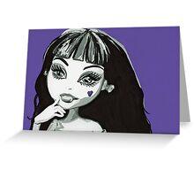 Draculaura (purple)  Greeting Card