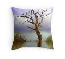 OLD TREE in WATER Throw Pillow