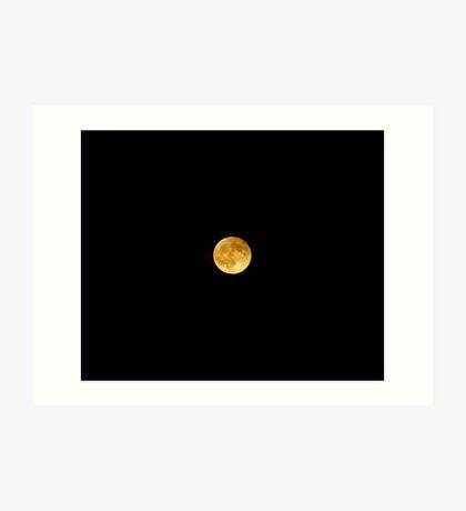 Moon after Eclipse Art Print