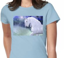 Star .. a white unicorn Womens Fitted T-Shirt