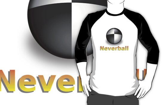 Nevershirt (White Ball) by Josh Bush