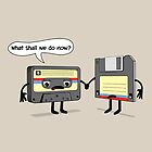 The Obsoletes (Retro Floppy Disk Cassette Tape) by Creative Spectator