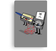 Killer Ipod Clipart (Murder of Retro Cassette Tape ) Canvas Print