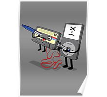 Killer Ipod Clipart (Murder of Retro Cassette Tape ) Poster