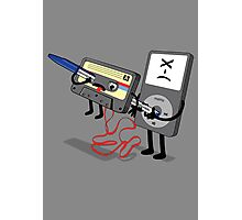 Killer Ipod Clipart (Murder of Retro Cassette Tape ) Photographic Print