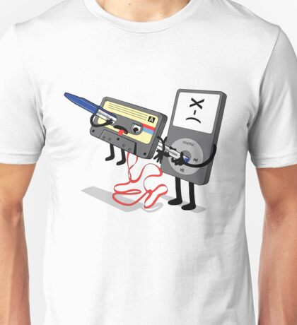Killer Ipod Clipart (Murder of Retro Cassette Tape ) T-Shirt