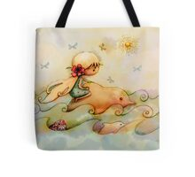 dolphin ride Tote Bag