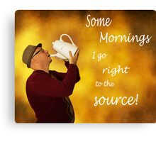 Coffee Mornings Canvas Print