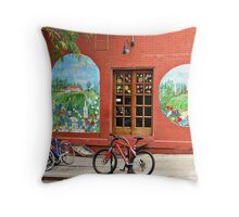 A European Street Corner in the middle of NYC Throw Pillow