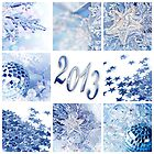 2013 blue christmas collage by Delphimages