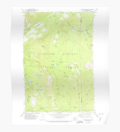 USGS Topo Map Washington State WA Green Mountain 241410 1970 24000 Poster